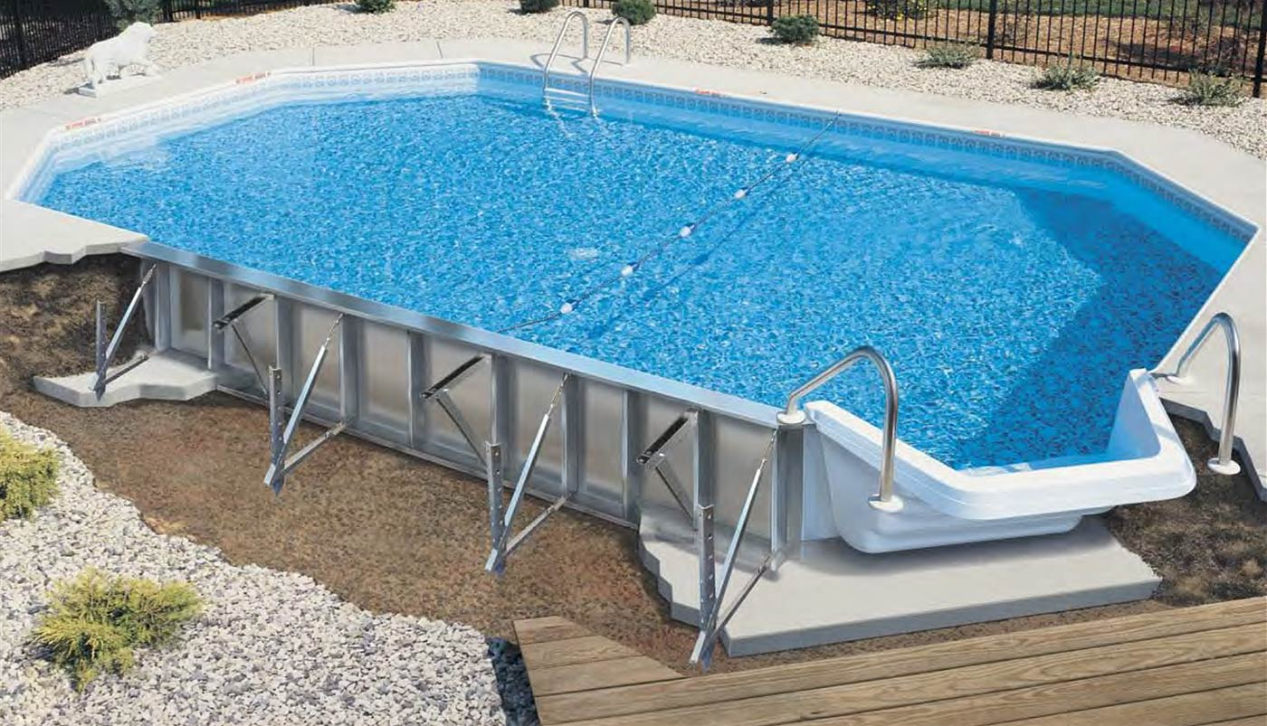 Inground pools for Lazy l swimming pool covers