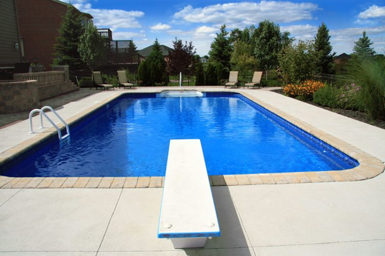 inground pools with diving board and slide. Pool-Diving-Board-01 Inground Pools With Diving Board And Slide